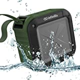 Waterproof Bluetooth Speaker, Infinilla 4.1 Portable Outdoor & Shower Wireless Speakers, Super Bass, 12 Hour Playtime with Mic, NFC and SD Card Support (Green)