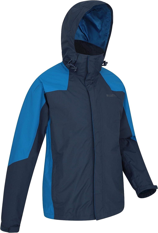 Capucha Plegable Viajar para Caminar Mountain Warehouse Chaqueta Gust para Hombre Acampar Impermeable para Lluvia Forro de Malla Secado r/ápido Transpirable