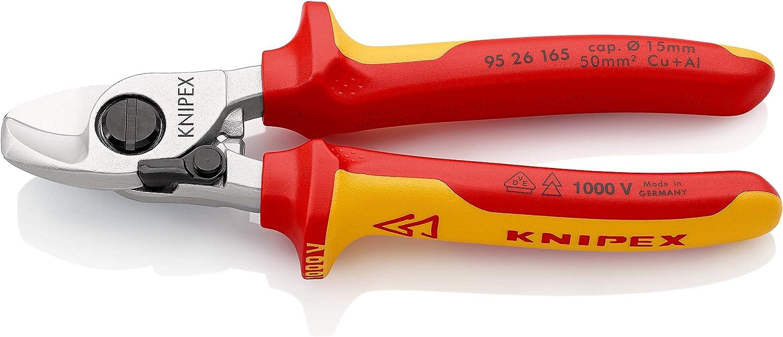 KNIPEX 95 22 165 Cortacables Con muelle de apertura con fundas en dos componentes 165 mm