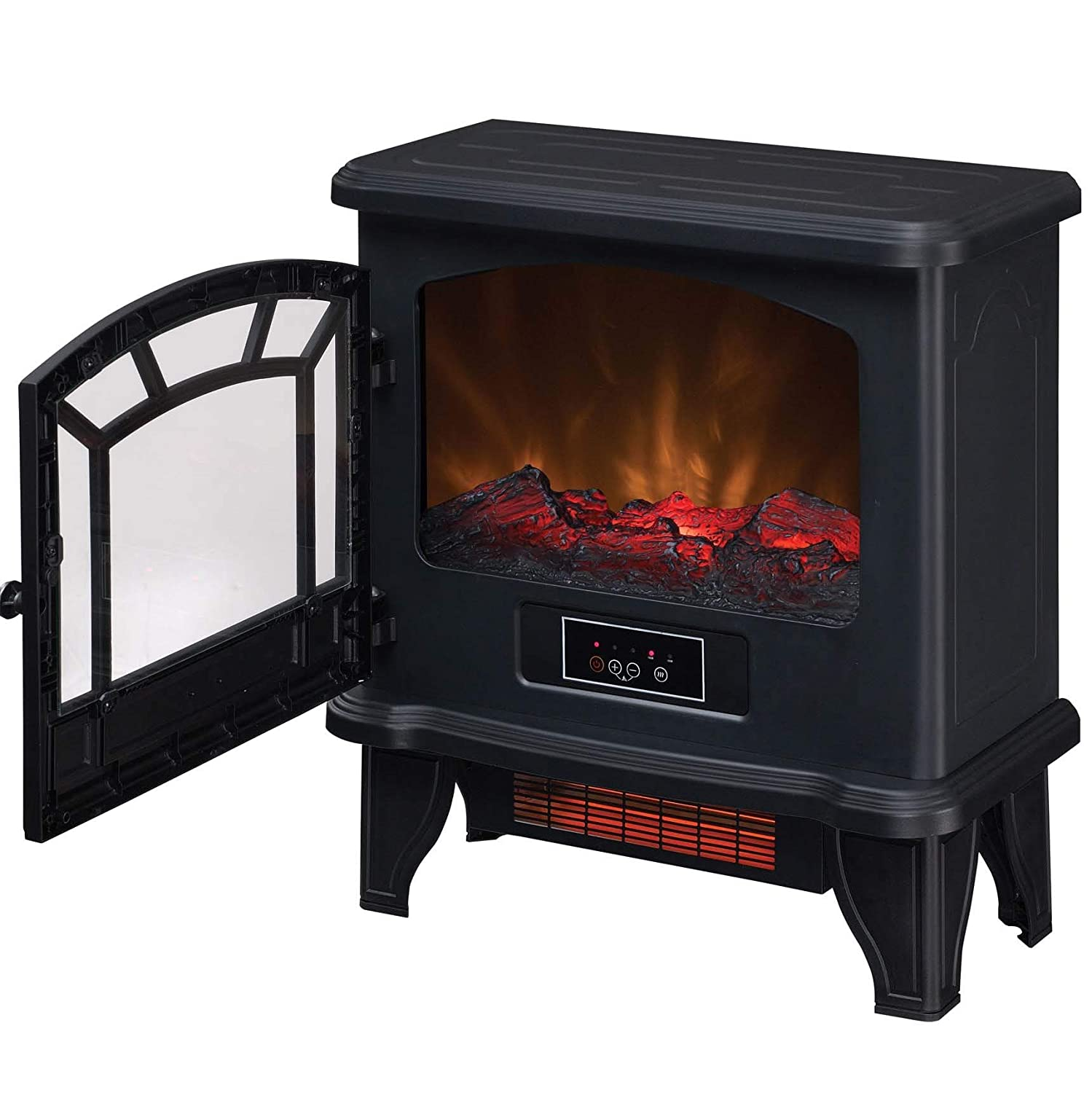 Wondrous Duraflame Electric Dfi 550 36 Infrared Quartz Fireplace Stove Heater Black Interior Design Ideas Gentotryabchikinfo