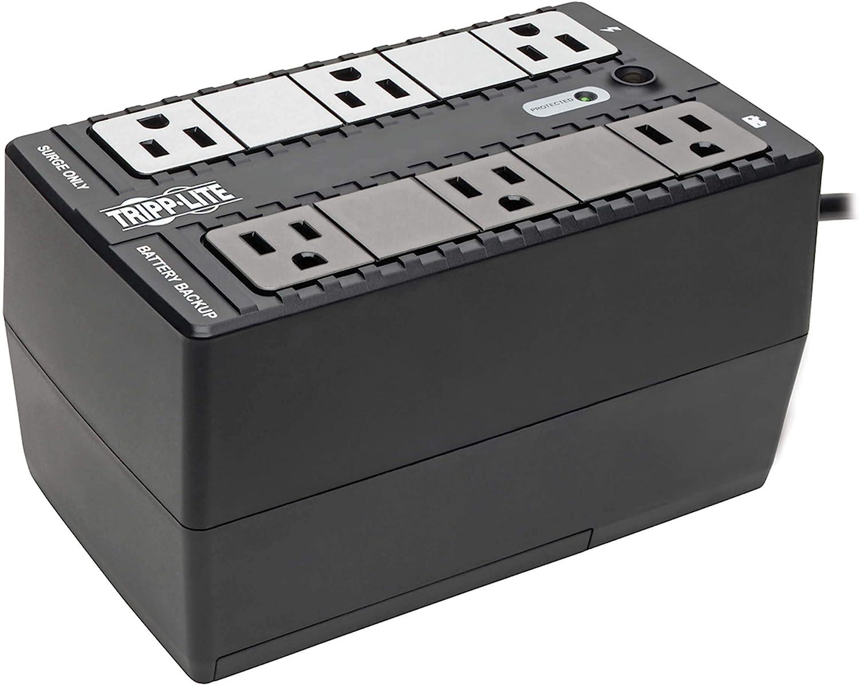 Tripp Lite 350VA Standby UPS, 6 Outlets, 210W, 120V, 50/60 Hz, Desktop/Wall Mount (BC350)