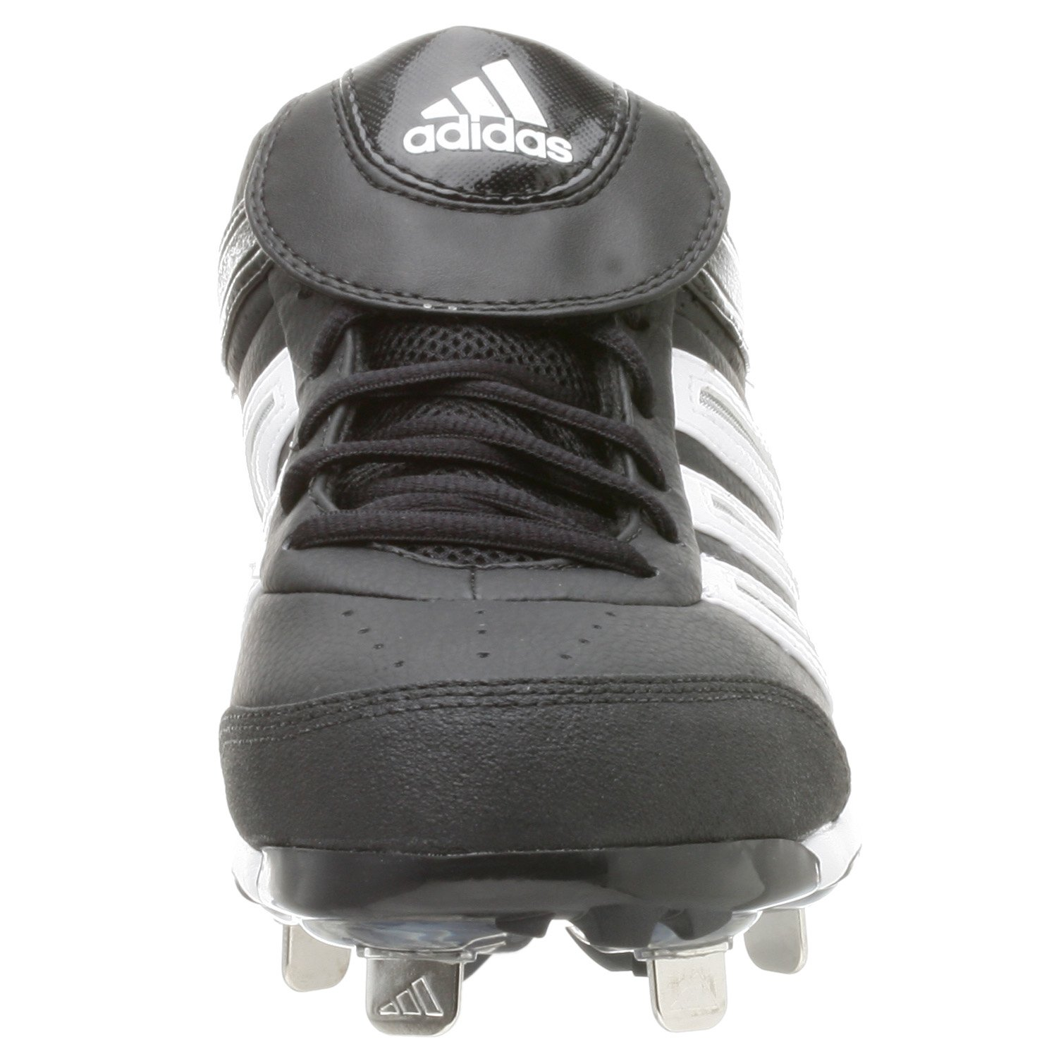 adidas Men's Diamond King Low Baseball Shoe,Blk/Runwht/Metsil,9.5 M by adidas (Image #5)