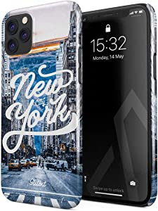 Glitbit Compatible with iPhone 11 Pro Max Case New York City Big Apple USA Times Square America Travel Wanderlust Brooklyn Manhattan Thin Design Durable Hard Shell Plastic Protective Case Cover