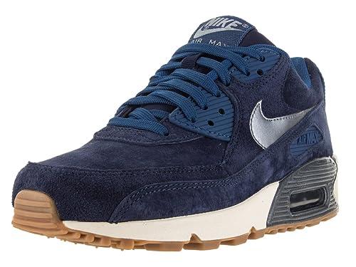 1595d7d2b099 Nike Women s Air Max 90 PRM Suede Mid NVY MTLC Bl Dsk Sl Ghst Gr Running  Shoe 9 Women US  NIKE  Amazon.ca  Shoes   Handbags