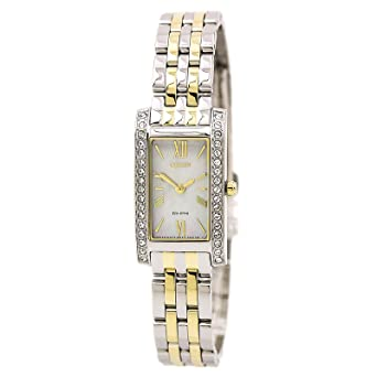 cda719f6add0cb Amazon.com: Citizen Watches Women's EX1474-51D Eco-Drive Two-Tone ...