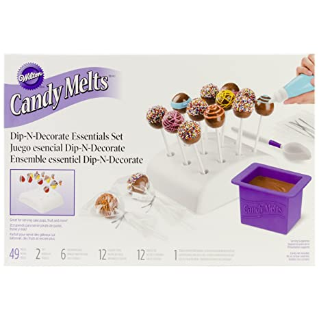 Amazon Com Wilton 2104 0032 Candy Melts Dip And Clip Decorating Essentials Set Kitchen Dining