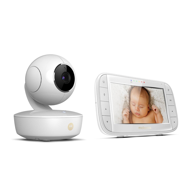 Motorola MBP 48 Video-Babyphone 2-Wege-Audio und Temperatursensor 300m Reichweite Nachtsicht 5,0 Zoll Farbdisplay