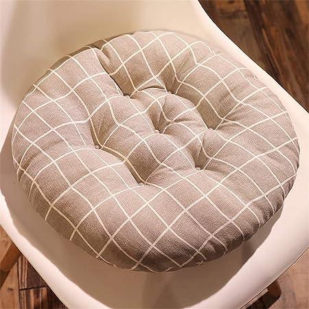 YDMR Espesar Cojines para sillas de Cocina Tela de Felpa Cojines de Asiento Exterior Comodo Cojines Redondos Antideslizante Reversible cojin de sillas Jardin 40x40: Amazon.es: Hogar