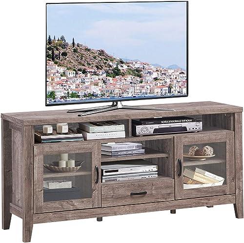 Tangkula Farmhouse Tall TV Stand
