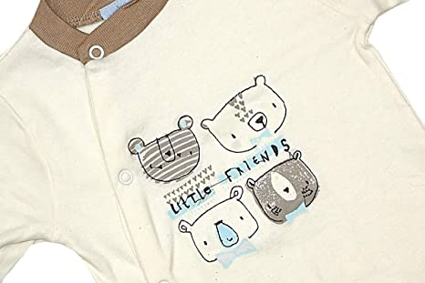 6bf5bf8ac138 Boys Baby Pack of 2 Teddy Bear Friends Sleepsuit Rompers Sizes from ...