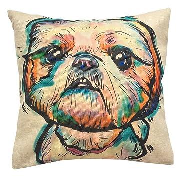 Amazon.com: Redland Art - Funda de cojín para mascota, lino ...