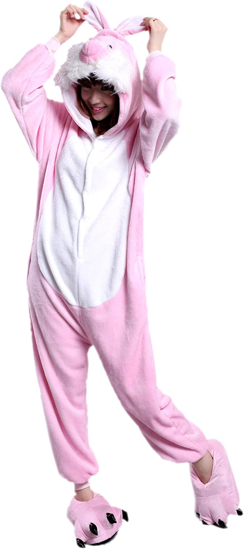 MizHome Plush Easter Bunny Rabbit Mascot Costume Cosplay Hoodies Dress S-XL