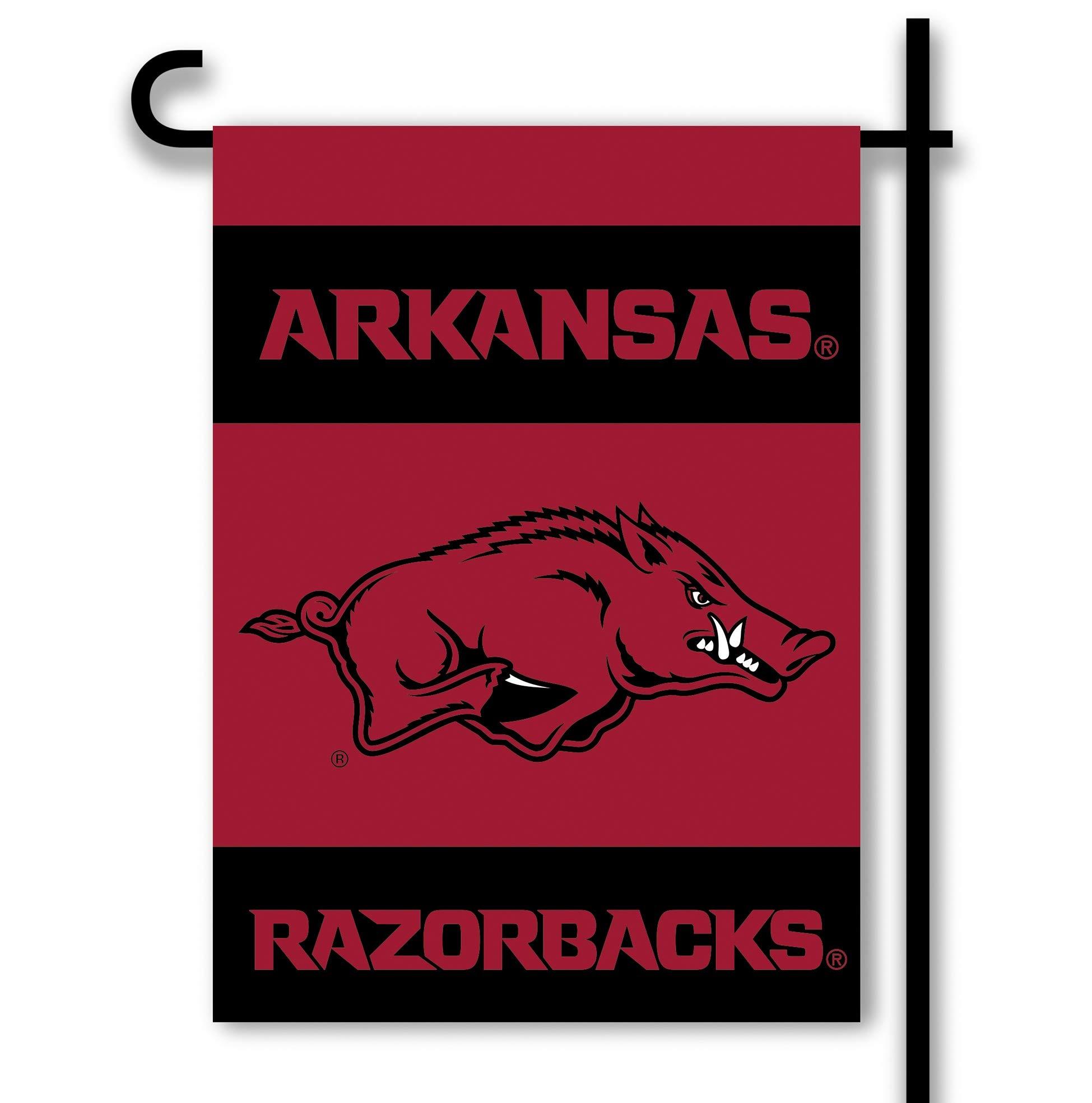 NCAA Arkansas Razorbacks 2-Sided Garden Flag