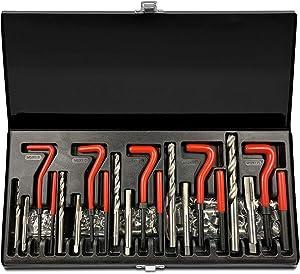 Highking Tool 131 pcs Stripped Thread Rethread Recoil Repair Kit Metric M5 M6 M8 M10 M12