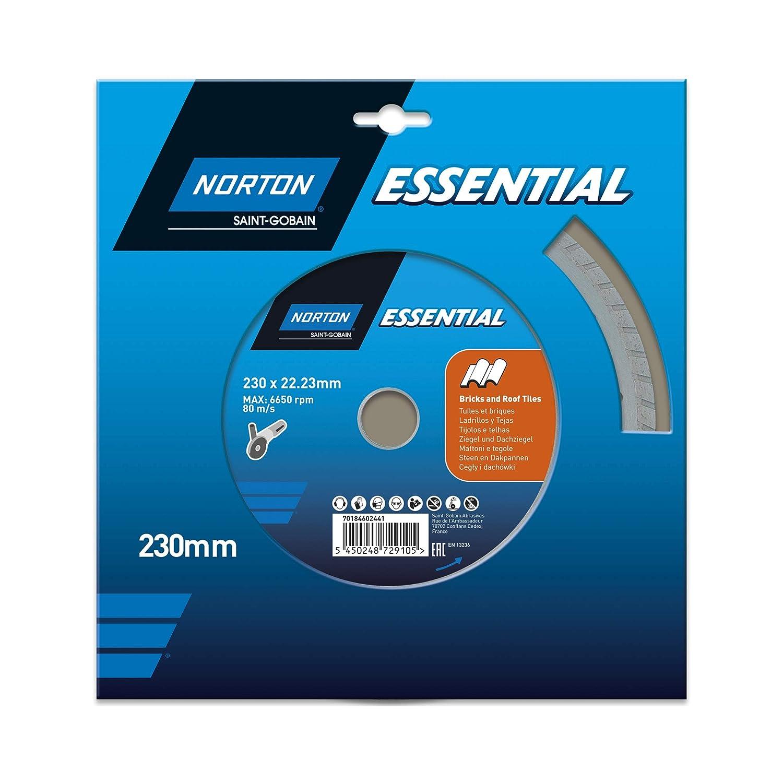 Norton Essential 70184602440 Disque /à tron/çonner Diamant 125x22.23mm Briques et carrelage