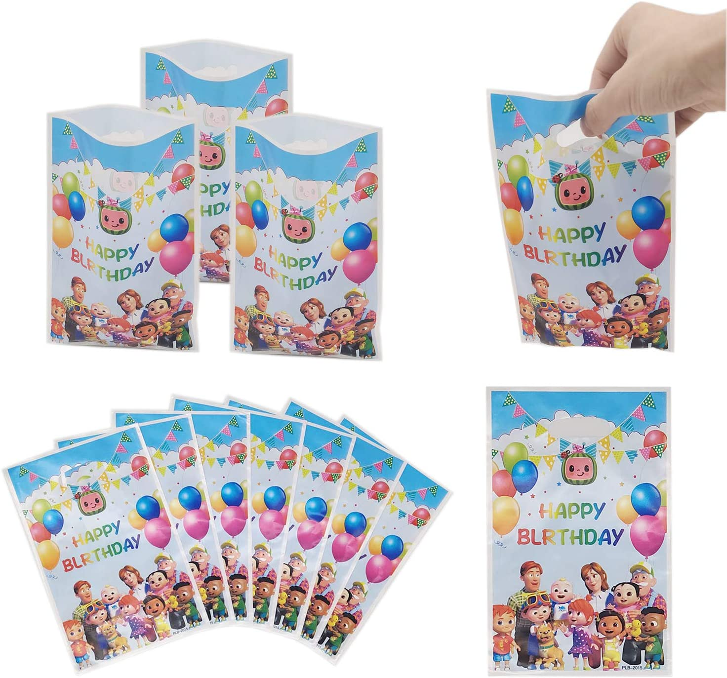 30 Packs Cocomelons family Party Gift Bags
