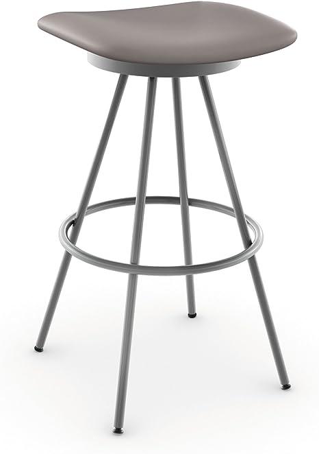 Amisco Beacon Swivel Metal Counter Stool 26 Inch Magnetite Pewter Amazon Ca Home Kitchen