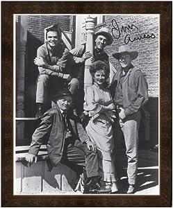 Framed Print Gunsmoke Cast Marshal Dillon Burt Reynolds Kitty Fester And Doc