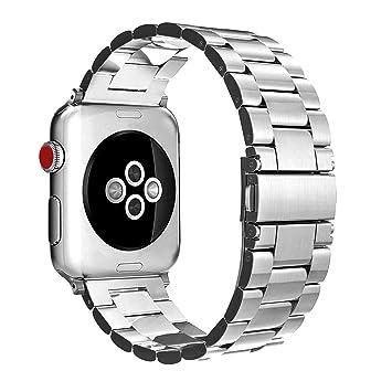 Fintie Correa para Apple Watch - 44mm/42mm Pulsera de Repuesto Sólido de Acero Inoxidable para 44mm y 42mm Apple Watch Serie 5/4/3/2/1 Todos los ...