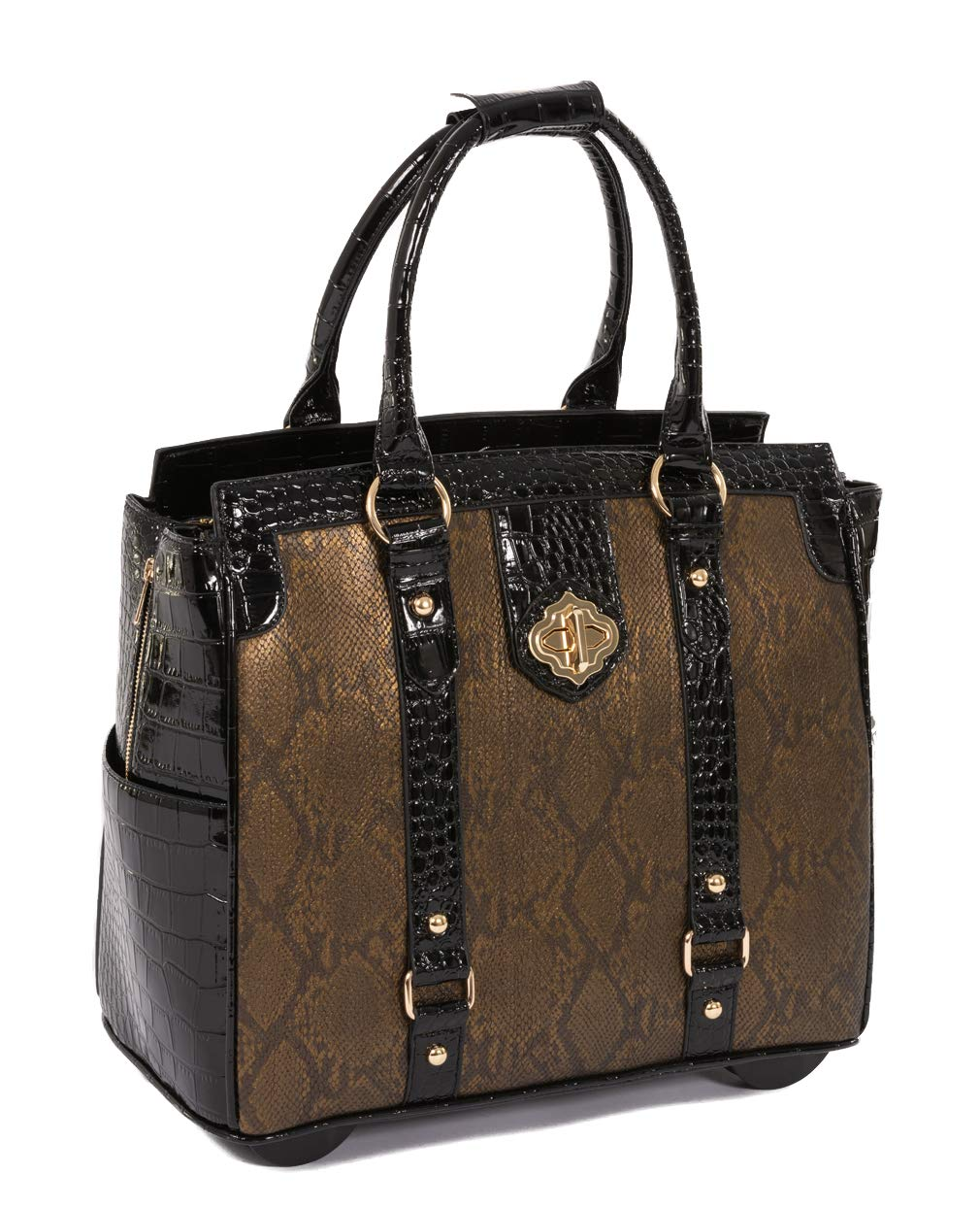 JKM and Company The Cleopatra Computer iPad, Laptop Tablet Rolling Tote Bag Briefcase Carryall Bag