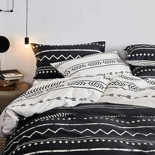 Amazon.com: Striped Duvet Cover Queen Geometric Bedding Set Full