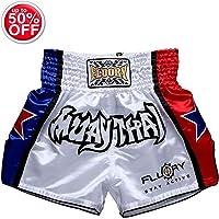 FLUORY Muay Thai Fight Shorts,MMA Shorts Clothing Training Cage Fighting Grappling Martial Arts Kickboxing Shorts Clothing