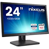 "Nixeus Vue 24"" 144Hz Gaming Monitor, AMD FreeSync, 1920x1080, 1ms, Adaptive-Sync 30Hz to 144Hz, Widescreen with Ergonomic Stand (NX-VUE24A)"