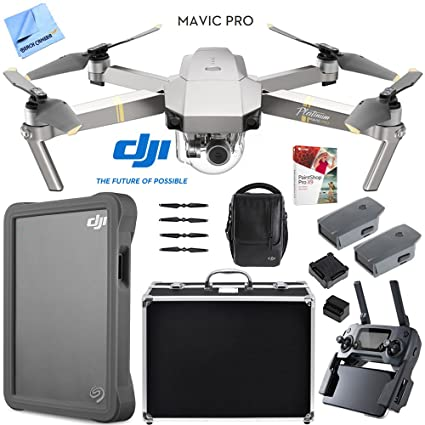 10eed4ba193 Amazon.com: DJI Mavic Pro Platinum Quadcopter Drone with 4K Camera Fly More  Combo Pack Triple Battery w/Case 2TB HD Kit: Toys & Games