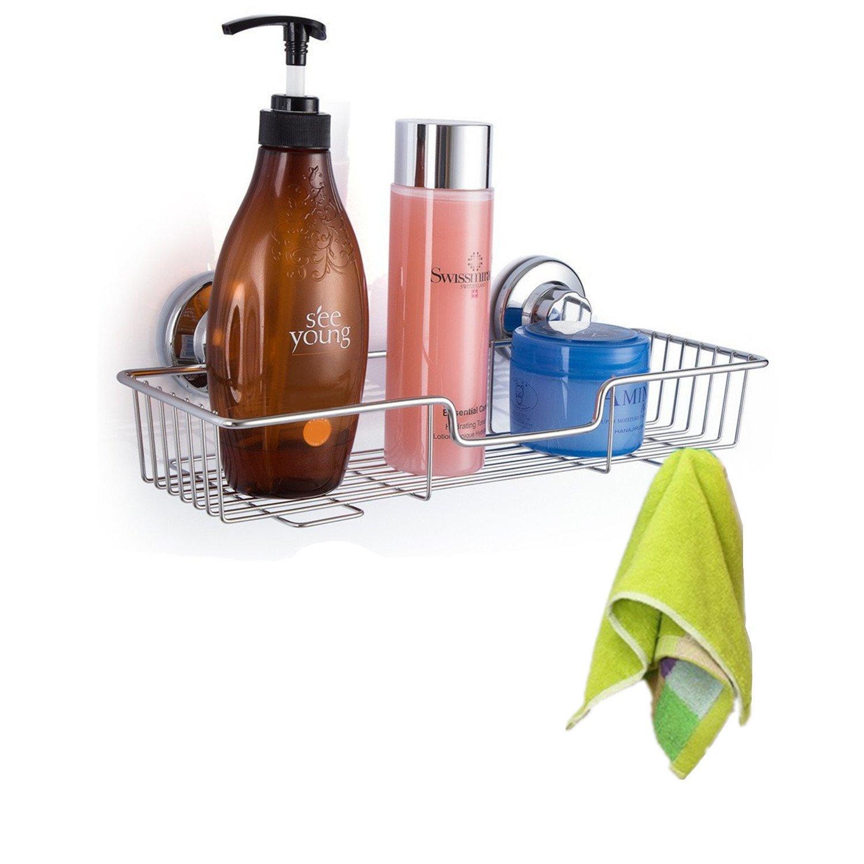 Amazon.com: iPEGTOP Rectangle Bath Shelf Shower Caddy with Strong ...