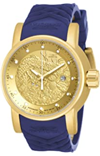 Invicta Mens S1 Rally Automatic Stainless Steel and Silicone Watch, Color:Blue