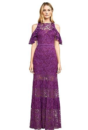 86681b3271235 Dressvip Nouvelle Collection 2018 Robe de Cérémonie de Soirée de Cocktail  pour Mariage Longueur Sol en Dentelle Violet  Amazon.fr  Vêtements et  accessoires