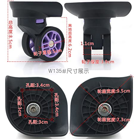 2b28f217f781 Amazon.com : Demountable Replacement luggage wheels 135#(Di Long ...