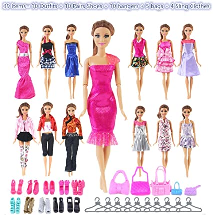 5 Shoes Accs Suits 5 Sets Doll Clothes Dress for 11.5/'/' Doll Mix Shirt /& Pants