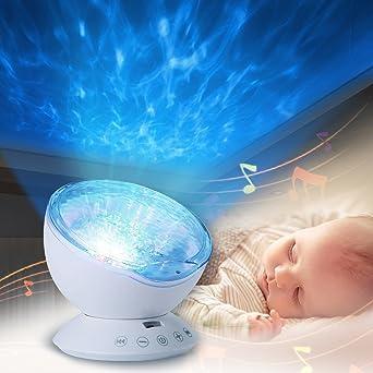Projektor Lampe Infreecs Schlaf Nachtlicht Mit Fernbedienung 12 LED 7 Farbkombination Romantische Dekoration Licht