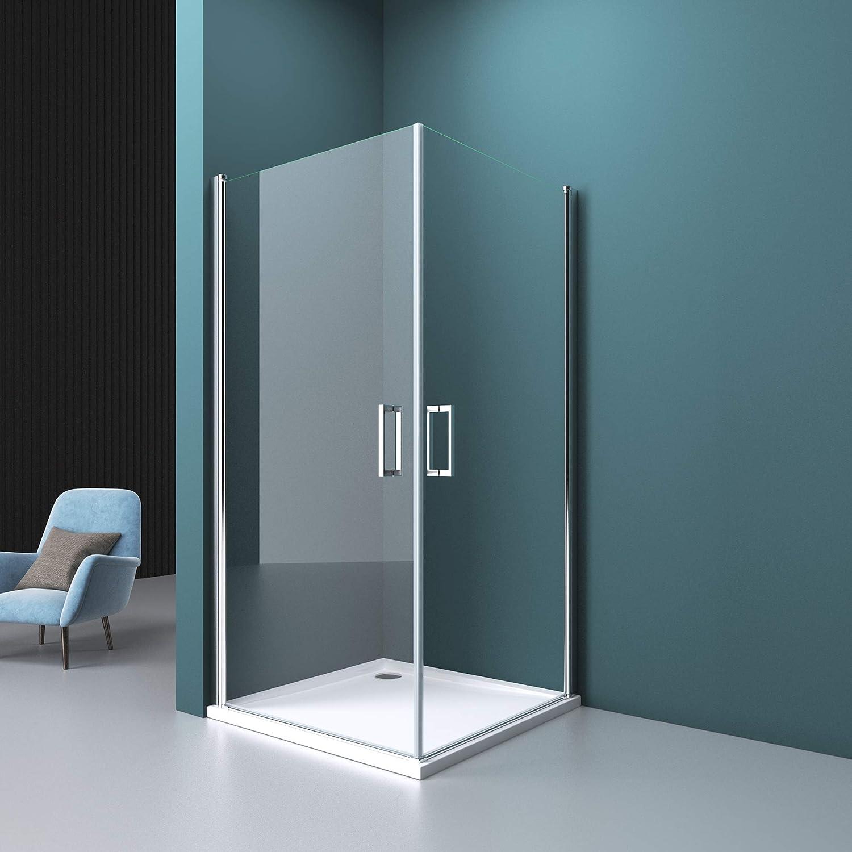 Mai /& Mai Cabine de douche 100x80 portes de douche pivotantes charni/ères auto-levantes pare douche paroi de douche RAV24K