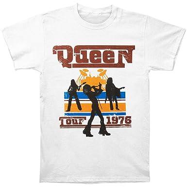 eebf14a5a61 Amazon.com  Queen Men s 1976 Tour Silhouettes T-Shirt White  Clothing
