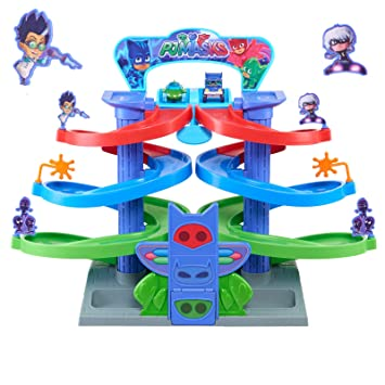 M.E.R.A. PJ Masks Nighttime Adventures Spiral Playset, Toy for boys, for Girls, Interesting