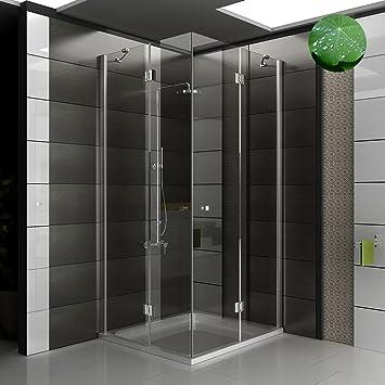 Cuadrado - diseño ducha - mampara de 90 x 100 x 195 - ducha cabina de ducha con/cristal: Amazon.es: Bricolaje y herramientas