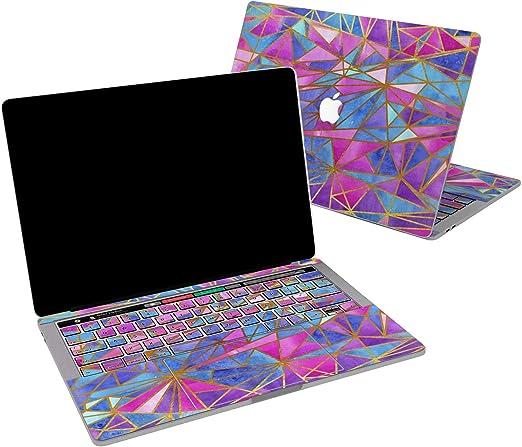 Amazon Com Lex Altern Skin De Vinilo Para Macbook Air De 13 Pulgadas Mac Pro 16 15 Retina 12 11 2020 2019 2018 2017 Abstracto Rosa Morado Blanco Geometría Mosaico Diseño De