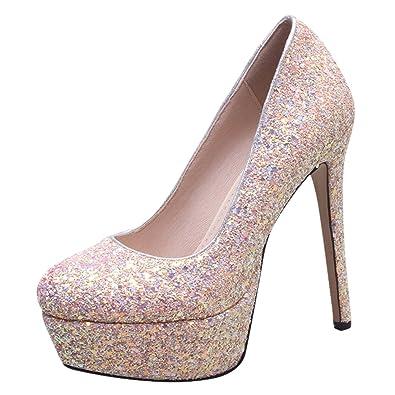 neueste Kollektion Kaufen Sie Authentic Junge YE Damen High Heels Glitzer Strass Stiletto Pumps mit ...