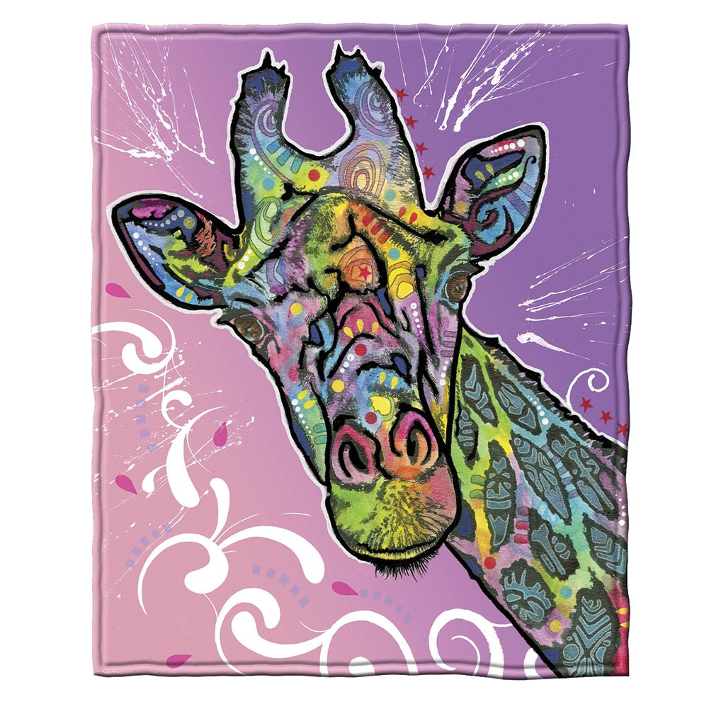 Dean Russo Giraffe Fleece Throw Blanket
