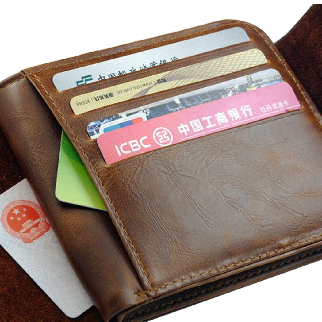 New Mens Boys Classic Leather Pockets Credit//ID Cards Holder Purse Wallets
