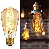 Brightown 6 Pack Edison Light Bulbs Vintage 60 Watt Incandescent Light Bulb E26 E27 Base Dimmable Decorative Antique Filament