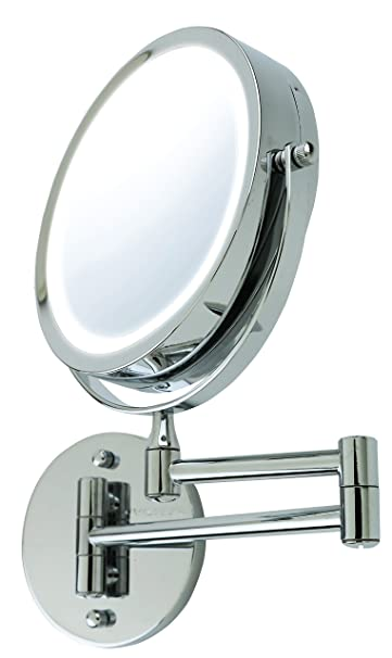 Amazon ovente wall mount led lighted makeup mirror battery ovente wall mount led lighted makeup mirror battery operated 1x10x magnification aloadofball Choice Image