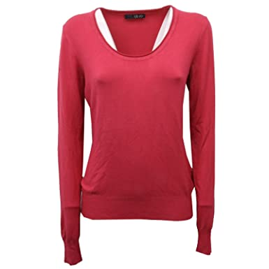 Maglione Jo Label Rosso Donna Ciliegia Liu Sweater Without C8594 wkPn0O