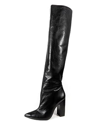 ce6131f6dd3b5 Zara Women s Leather High Heel Boots With Wide Leg 5017 201 (36 EU ...