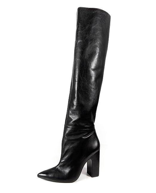 7083ff4dc79 Zara Women Leather high heel boots with wide leg 5017 201 (40 EU