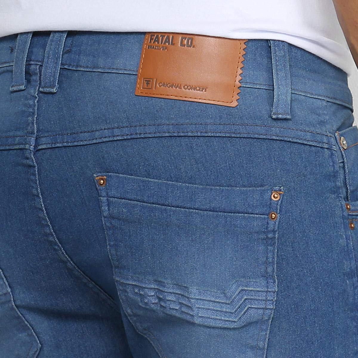 3497b3e88 Calça Jeans Skinny Fatal Estonada Masculina  Amazon.com.br  Amazon Moda