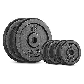 Capital Sports IPB 30 Kg Set juego de discos para mancuerna gimnasio (pesas de 4x2