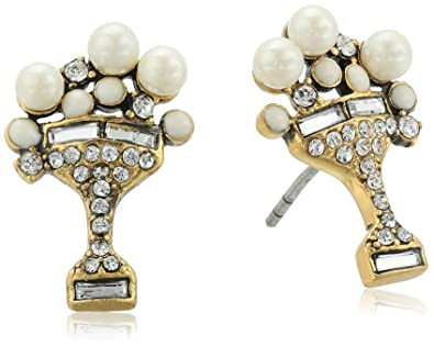 Marc Jacobs Charms Dice Stud Earrings in Metallic Gold v8P2NP